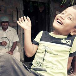 Smiling Boy In Ecuador