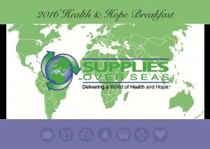 SOS Invitation - Health and Hope Breakfast 2017